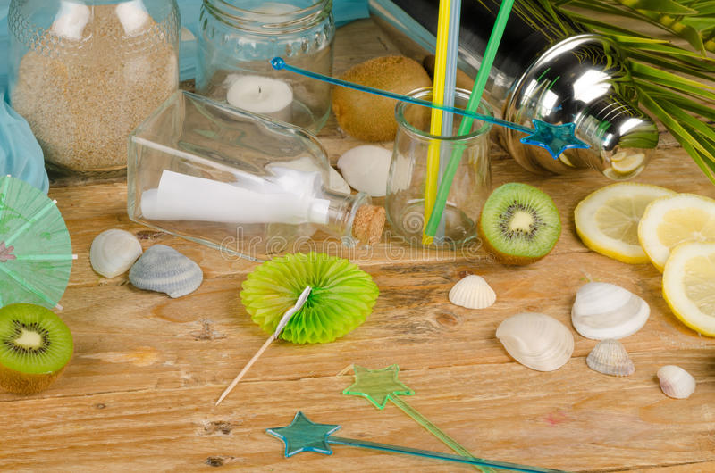 Summery table setting stock photography
