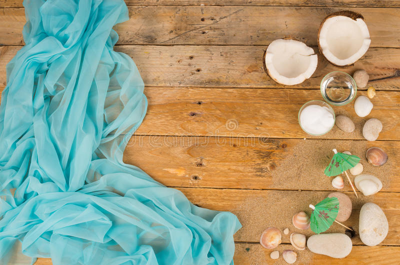 Summery table royalty free stock photography