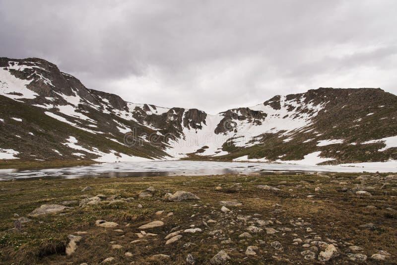 Summit湖,科罗拉多 库存照片