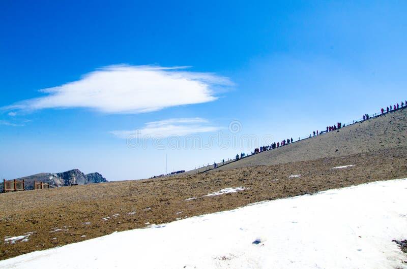The summit of changbai mountain (tianchi lake) royalty free stock image
