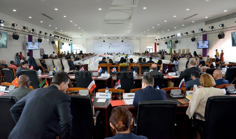 Summit del Francophonie tenuto a Antananarivo, Madagascar immagine stock libera da diritti