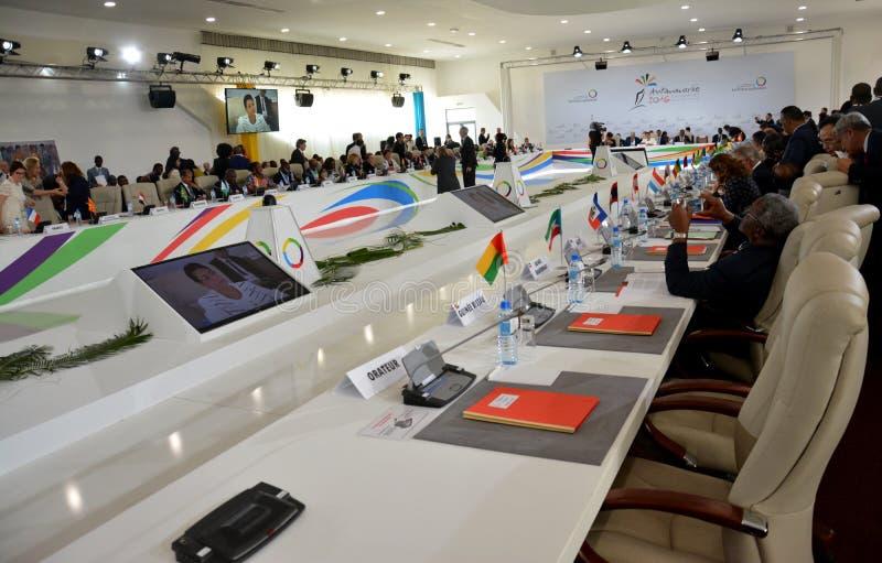 Summit del Francophonie tenuto a Antananarivo, Madagascar fotografie stock