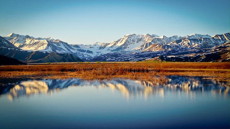 Summit lake Alaska reflection stock photos