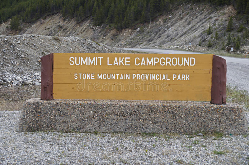 Download Summit Lake Sign Alaska Highway Canada Editorial Image - Image of park, alaska: 51716850