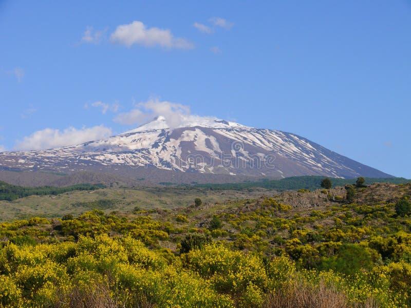 The summit of Mount Etna stock photos