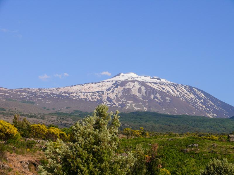 The summit of Mount Etna royalty free stock photos