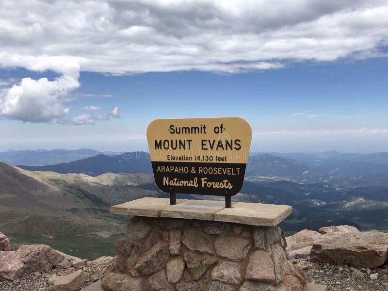 Summit of Mount Evans stock photo