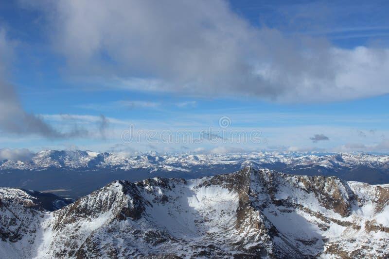 Summit of Mt. Democrat in Winter. Colorado Rocky Mountains. The snowy summit of Mt. Democrat, a 14er in the Colorado Mountains royalty free stock images