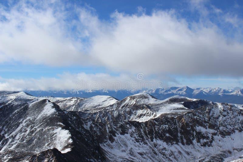 Summit of Mt. Democrat in Winter. Colorado Rocky Mountains. The snowy summit of Mt. Democrat, a 14er in the Colorado Mountains royalty free stock photos