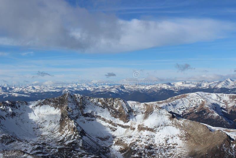 Summit of Mt. Democrat in Winter. Colorado Rocky Mountains. The snowy summit of Mt. Democrat, a 14er in the Colorado Mountains stock image