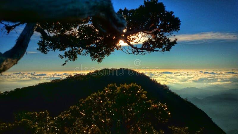 Summit of mt napulauan philipines royalty free stock image