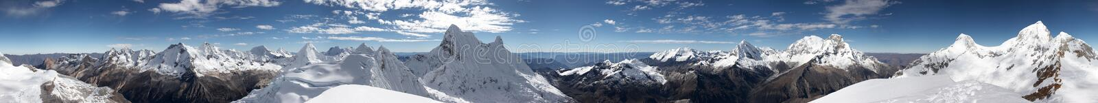 Summit panorama stock images