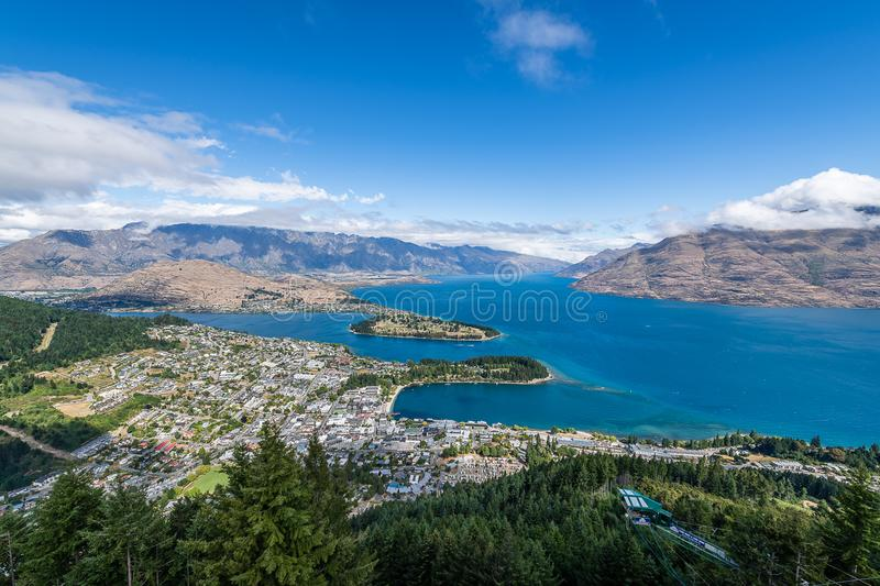 The summit of the Queenstown Gondola royalty free stock photo