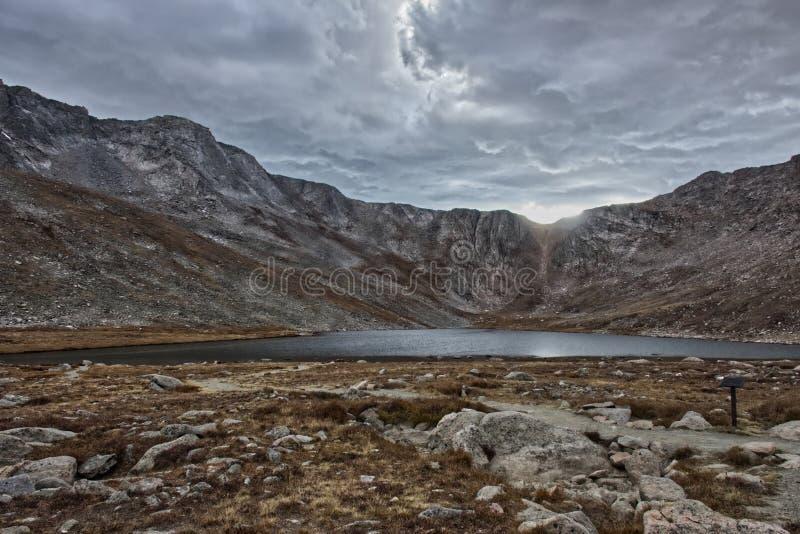 Summit See - Berg Evans, Co stockfoto