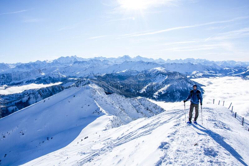 summit, snow, mountain, panorama, alps, winter, layers, mountaineer, mountaineering, snowy, nature, tree, white, mount, stock photography
