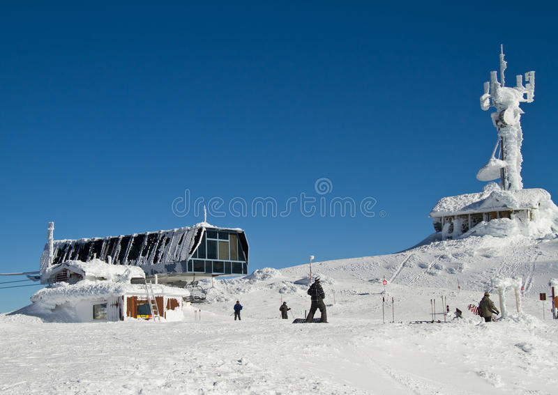 Download Summit of Whistler stock photo. Image of gliding, snow - 18353494