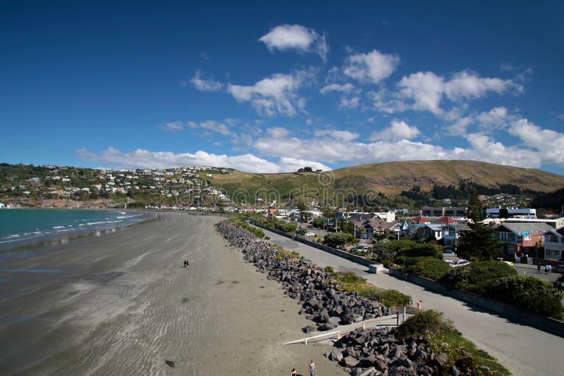 Sumner plaża blisko Christchurch zdjęcia royalty free