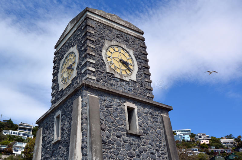 Sumner Scarborough Clock Tower Christchurch - New Zealand. CHRISTCHURCH - DEC 08 2015:Sumner Scarborough Clock Tower. Its the famous landmark of Summner the royalty free stock images