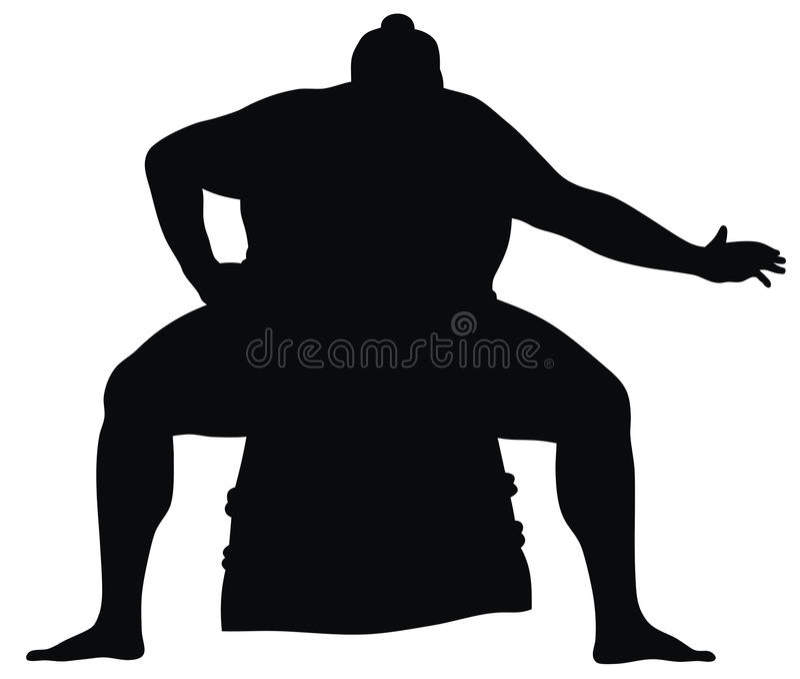 sumo摔跤手 向量例证