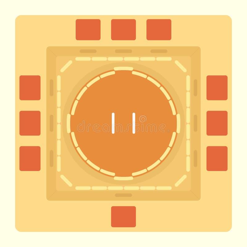 Sumo areny odgórny widok ilustracji