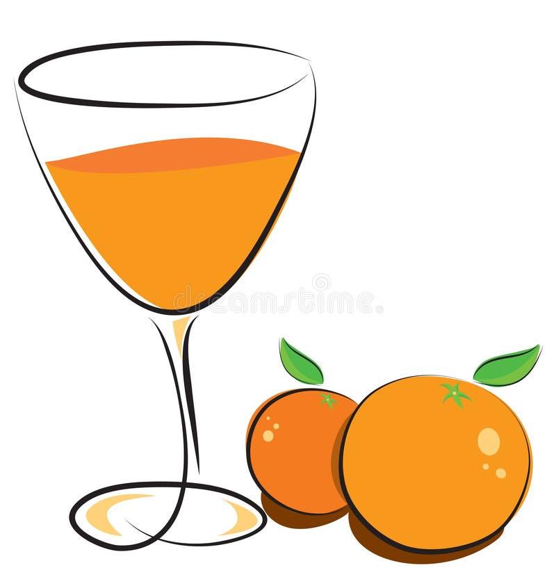 Sumo de laranja ilustração stock
