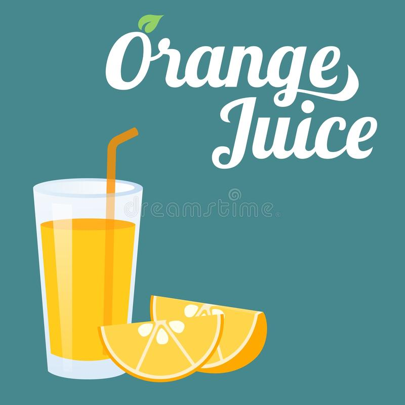 Sumo de laranja ilustração royalty free