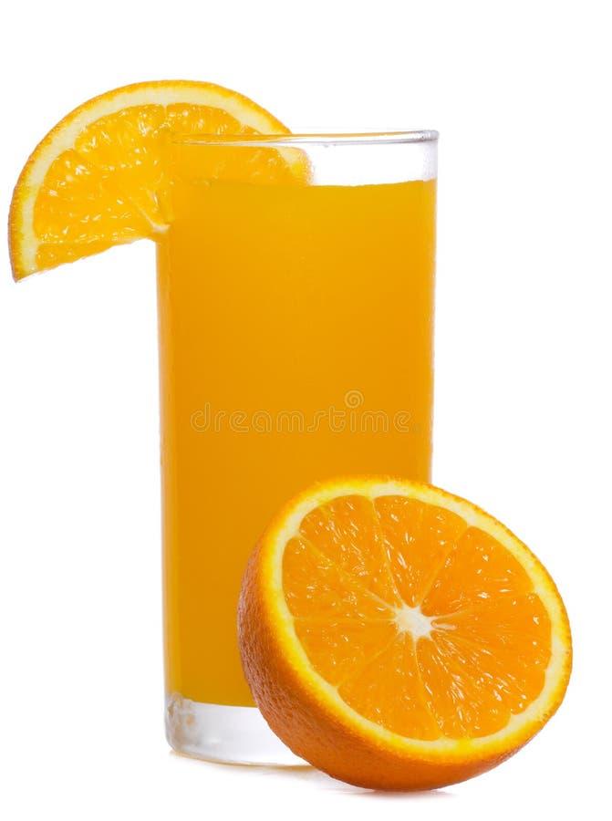 Sumo de laranja com fatia de laranja fotografia de stock
