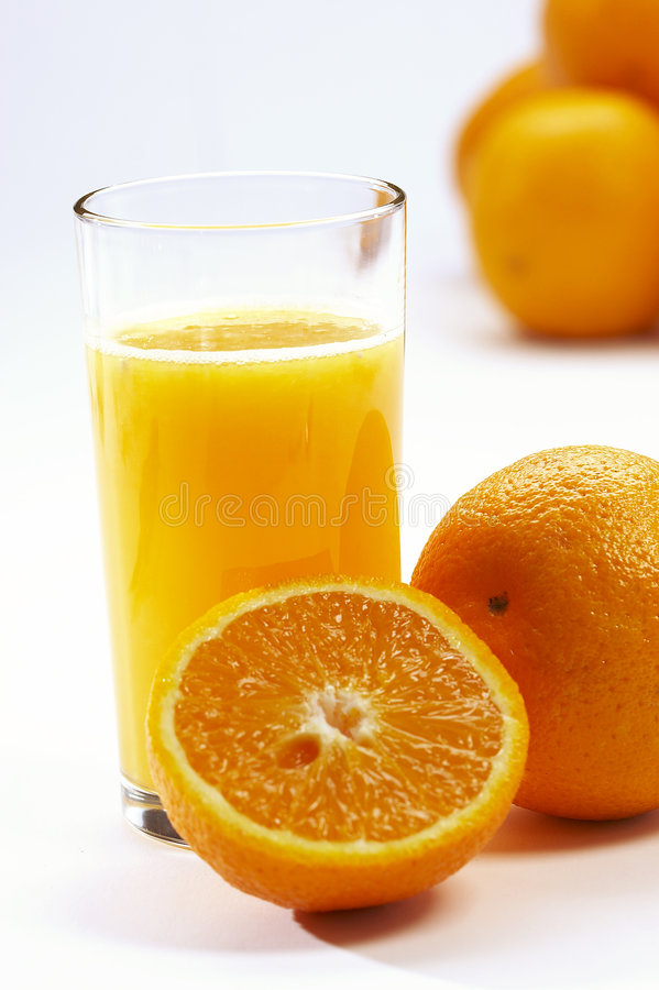 Sumo de laranja de Vitaminic foto de stock