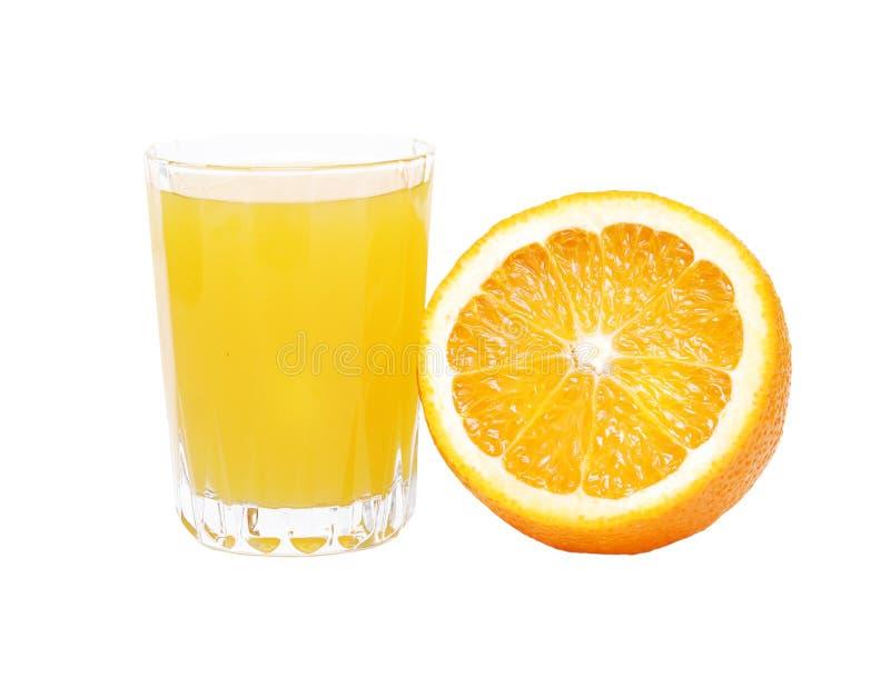 Sumo de laranja e fruta foto de stock royalty free