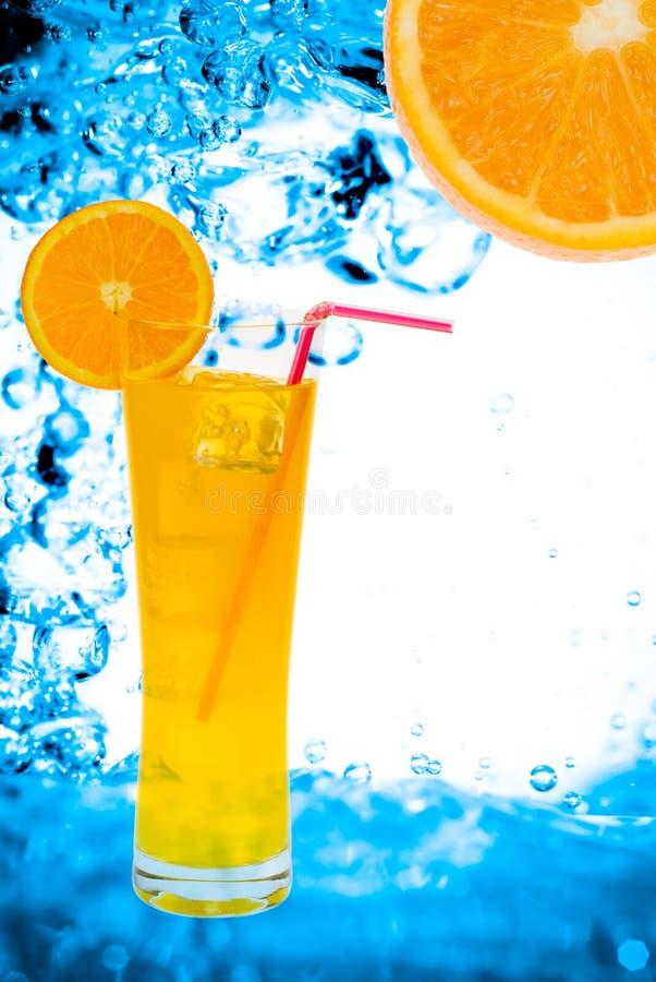 Sumo de laranja fresco imagens de stock