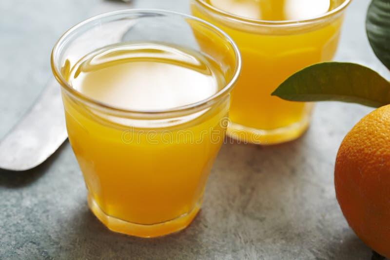 Sumo de laranja fresco imagem de stock