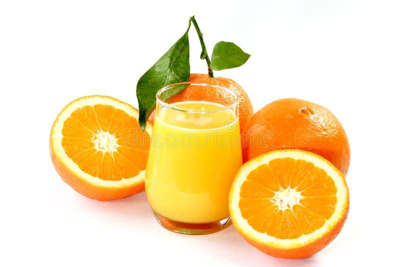 Sumo de laranja saudável imagens de stock