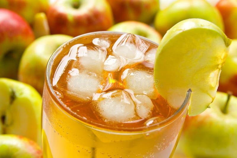 Sumo de maçã imagem de stock