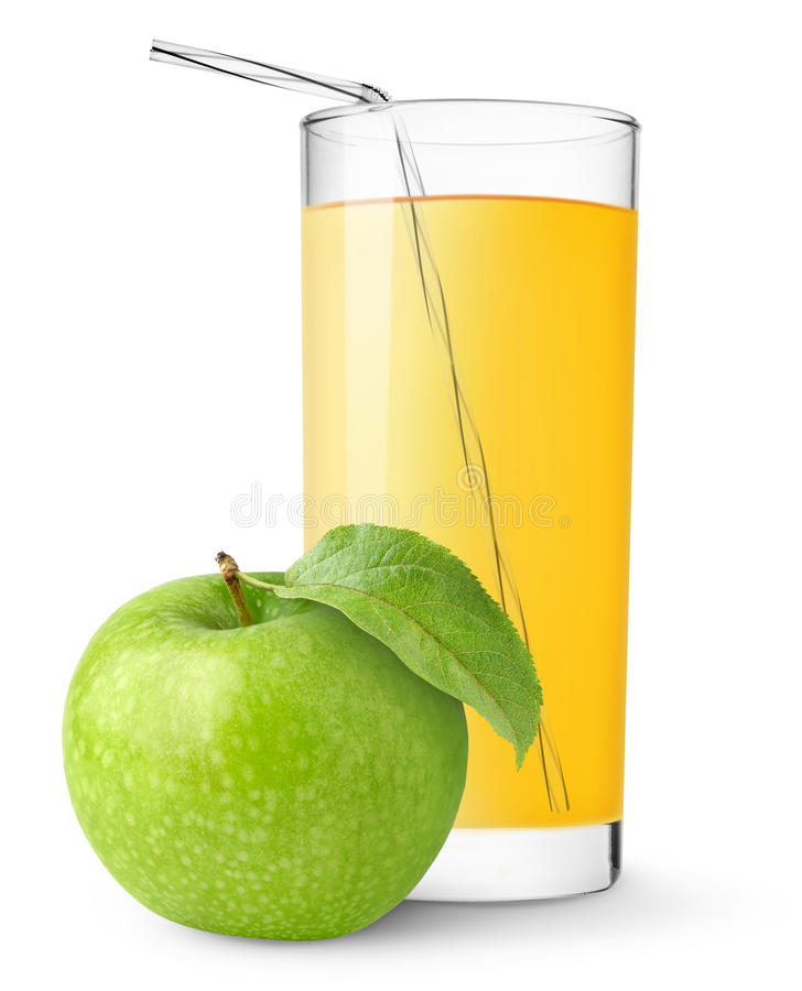 Sumo de maçã foto de stock