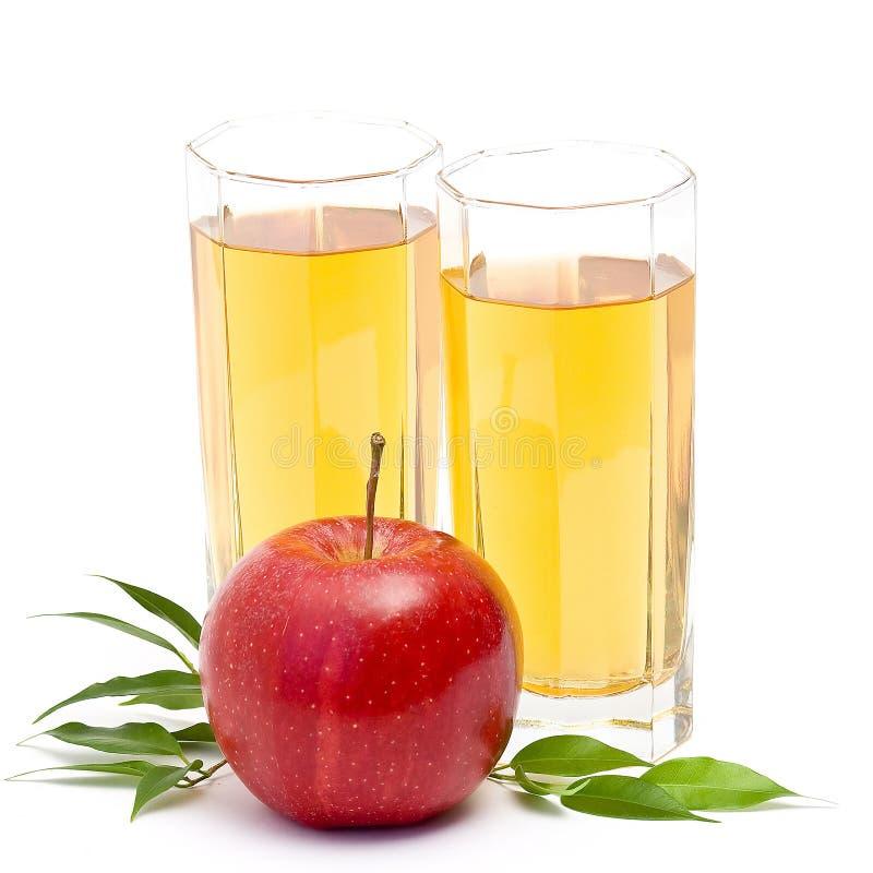 Sumo de maçã e frutas frescas foto de stock royalty free