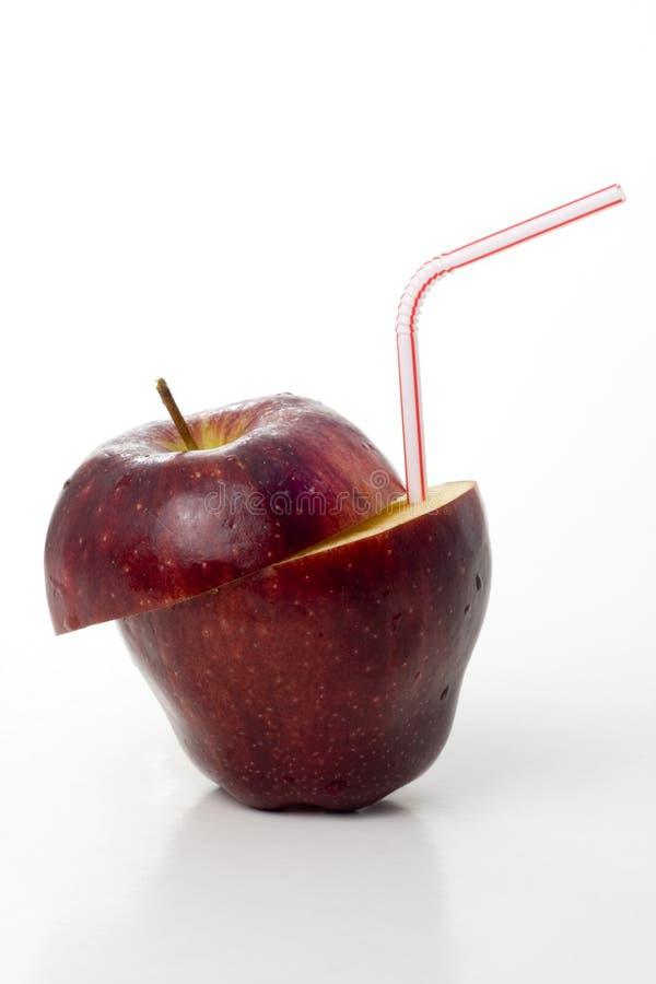 Sumo de maçã fresco foto de stock