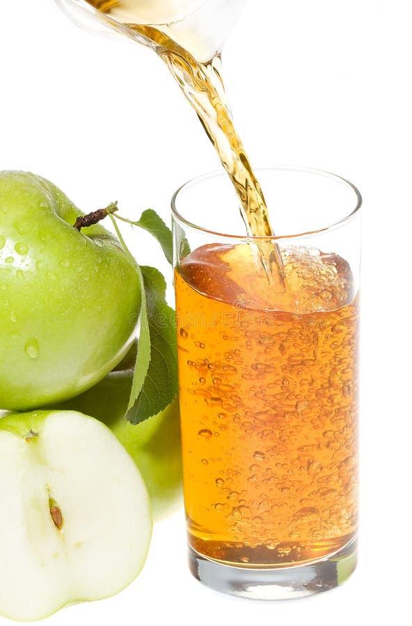 Sumo de maçã fresco imagens de stock