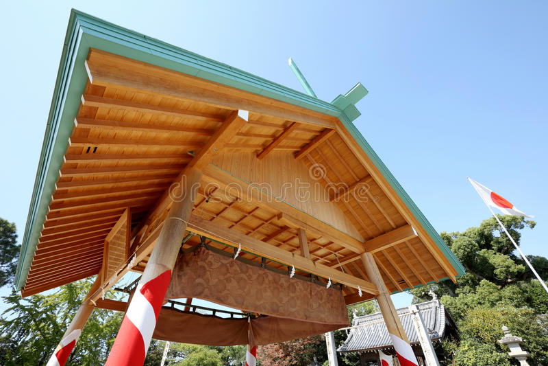 Sumo het worstelen huis royalty-vrije stock fotografie