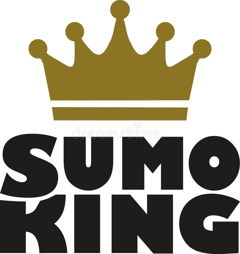 Sumo king vector illustration