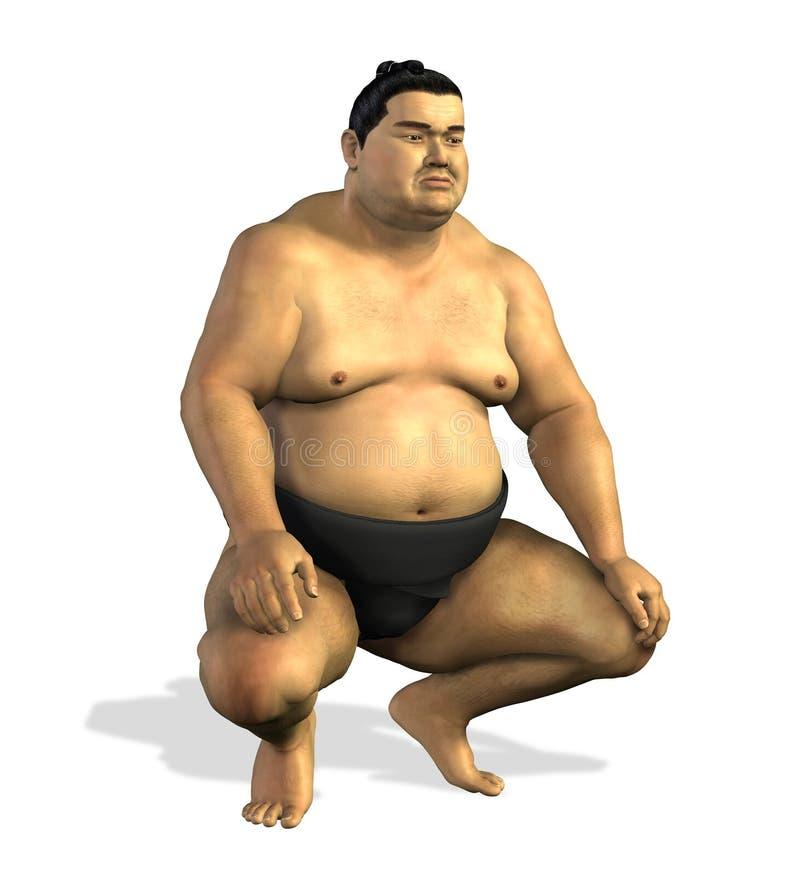 Sumo Wrestler 2 stock illustration