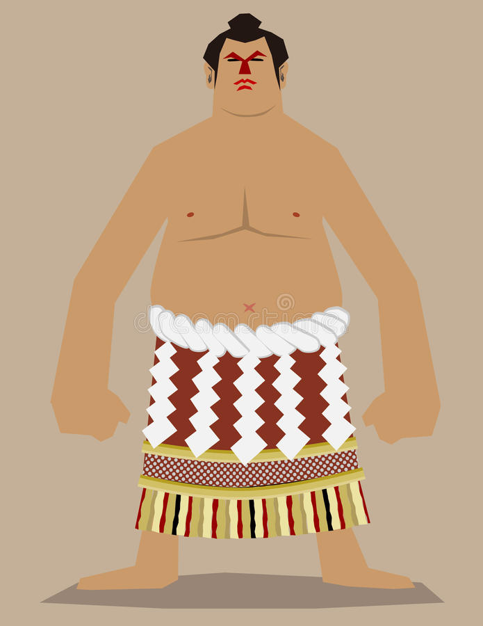 Sumo Wrestler royalty free illustration