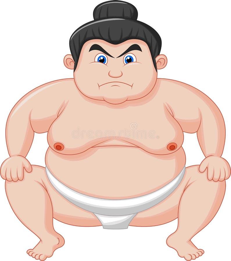 Sumo wrestler cartoon vector illustration