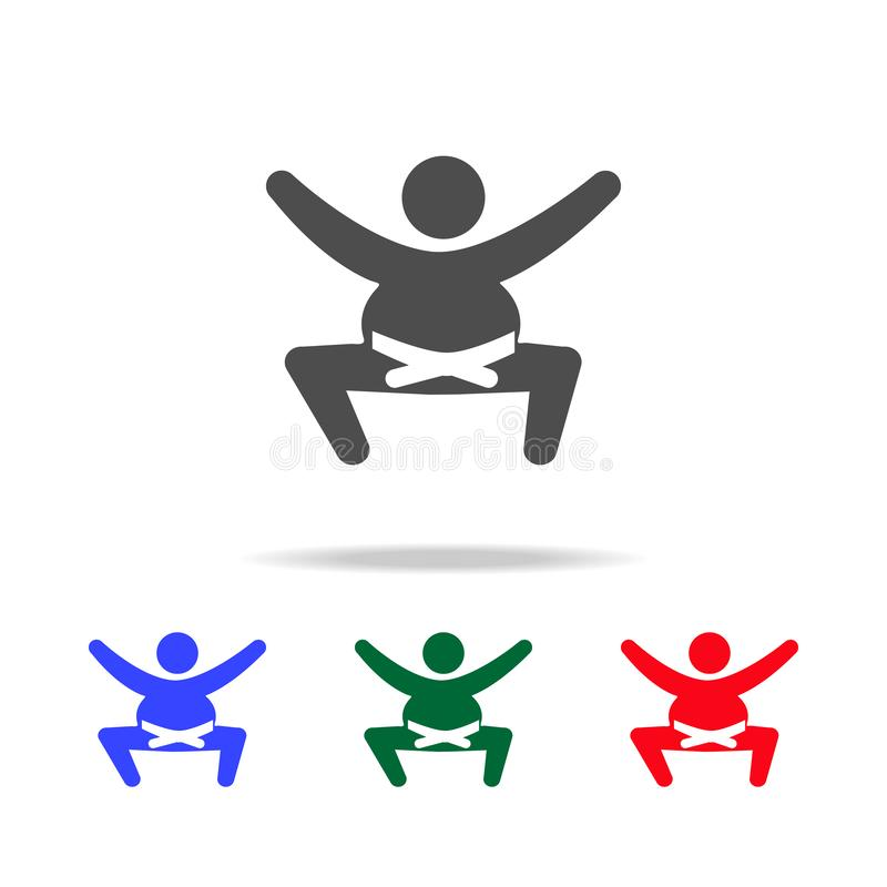 Sumo wrestler icons. Elements of sport element in multi colored icons. Premium quality graphic design icon. Simple icon for royalty free illustration