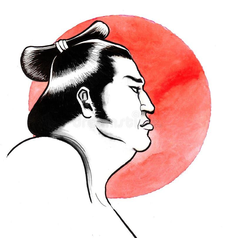 Sumo wrestler vector illustration
