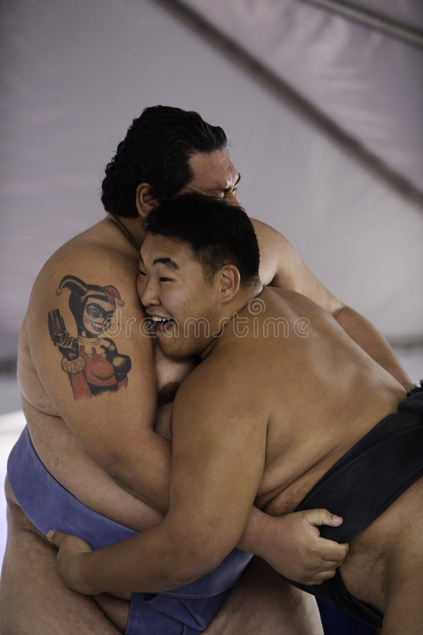 Free Sumo Wrestlers 27 Stock Photography - 4247282