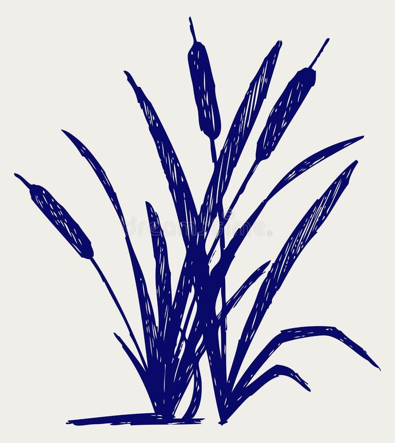 Sumpf. Gekritzelart vektor abbildung
