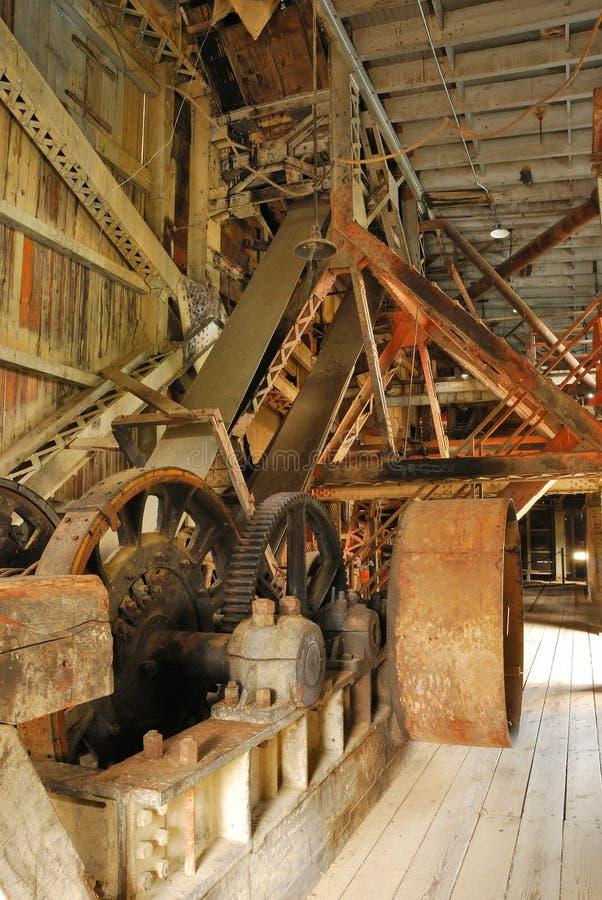 De Baggermachine van Supter stock afbeeldingen