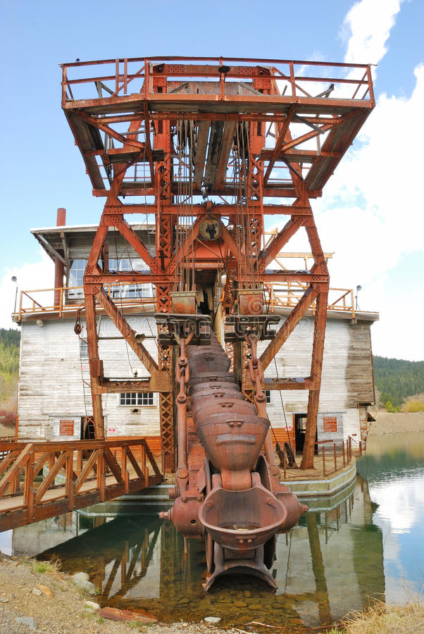 Supter Dredge. Sumpter Valley Dredge #3 was launched in 1935 and was built substantially from parts of the first dredge royalty free stock photography