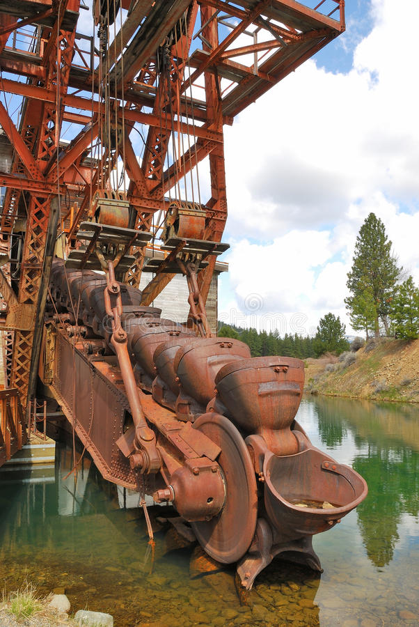 Supter Dredge. Sumpter Valley Dredge #3 was launched in 1935 and was built substantially from parts of the first dredge stock photography