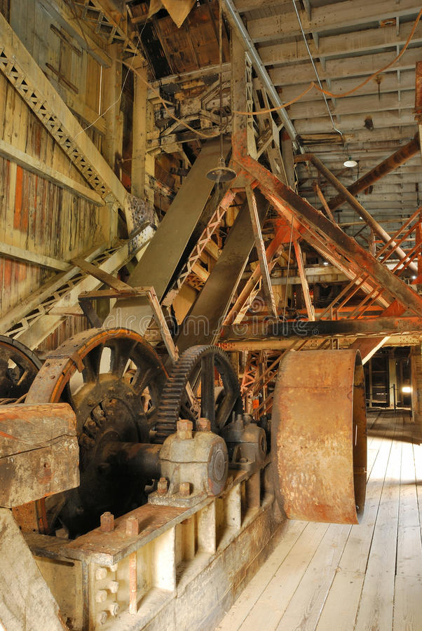 Supter Dredge. Sumpter Valley Dredge #3 was launched in 1935 and was built substantially from parts of the first dredge stock images